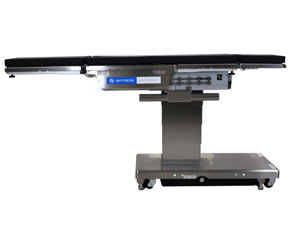 profile view of Skytron's GS70 surgical table with topslide engaged